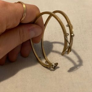 Brushed brass/sterling Double cuff